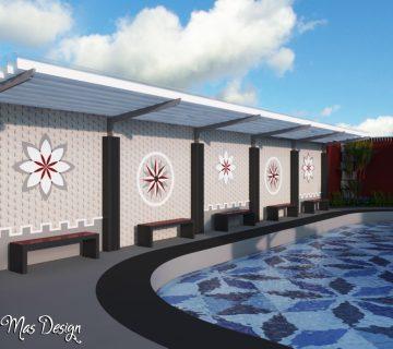 22 rest area di dekat kolam renang dewasa