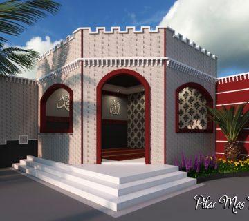 35 tampak depan masjid